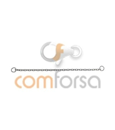 18kt White gold safety chain