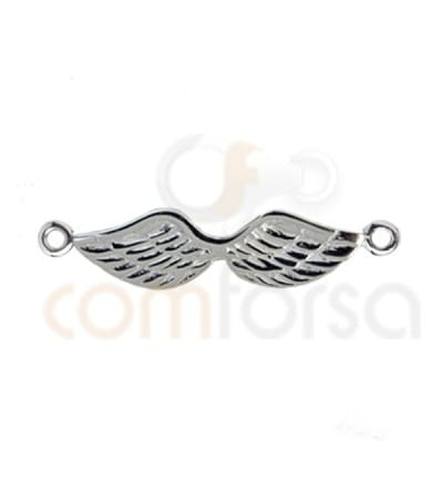 Sterling silver 925 Wings connector 27 x 6 mm