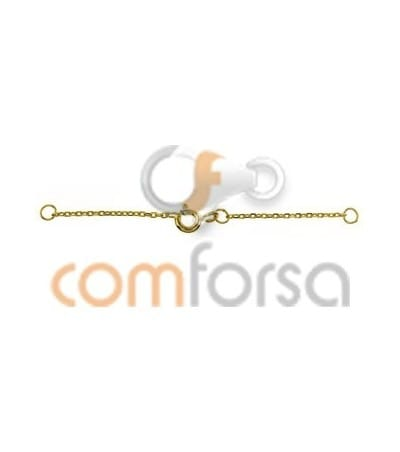 18kt Yellow gold safety chain with bolt ring