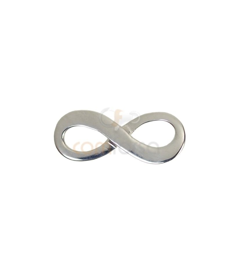 Sterling Silver 925 Infinite Connector 20.5x8mm