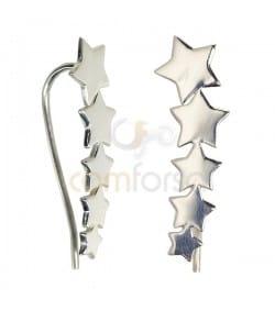 Sterling Silver 925 Stars Ear Crawler 8x25mm