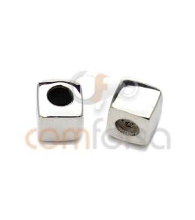 Engraving + Sterling Silver 925 Cube Spacer 5 mm (2.5)