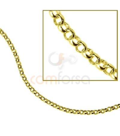 Gold plated sterling silver 925 light belcher chain