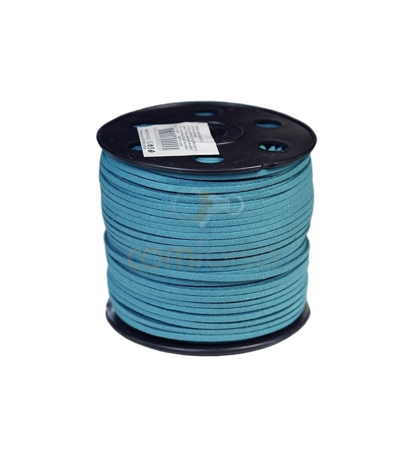 Imitation Suede turquoise strip 2.5 mm Standard quality
