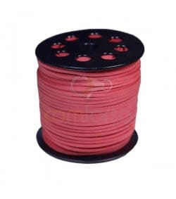 Imitation Suede coral pink strip 2.5 mm Standard