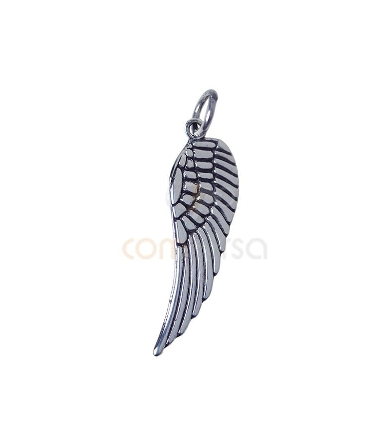 Sterling silver 925 wing pendant 9 x 29 mm