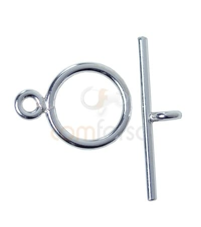 Sterling silver 925 toggle clasp ring 8mm bar 15 mm