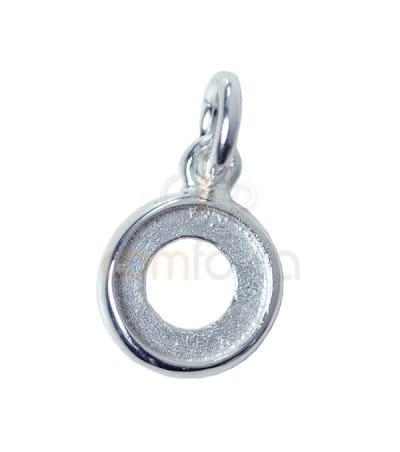 Sterling silver 925 pendant with jump ring 9 mm