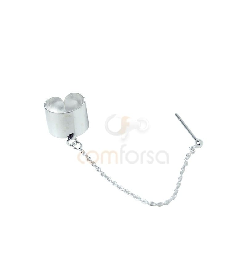 Sterling silver 925 earcuff with chain