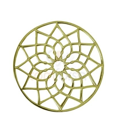 Mandala Flor 24 mm plata chapada oro
