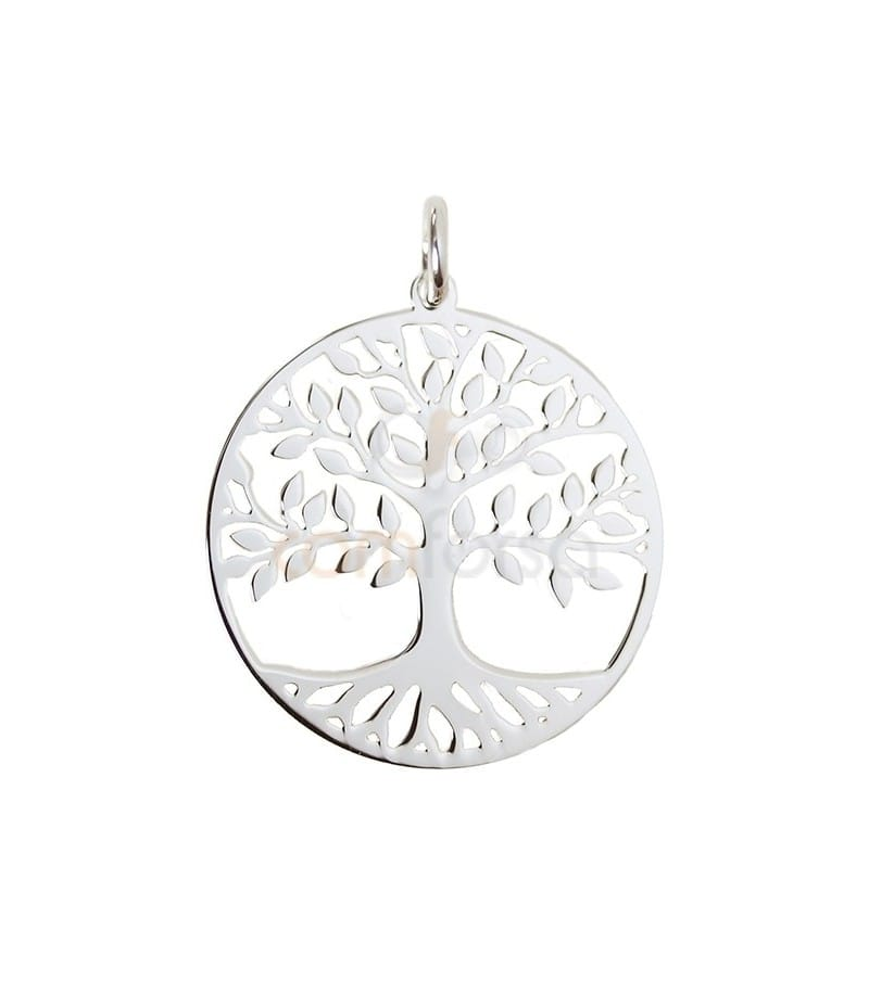 Sterling silver 925 tree of life pendant 20 mm