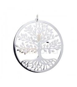 Colgante Árbol de la vida 34 mm plata