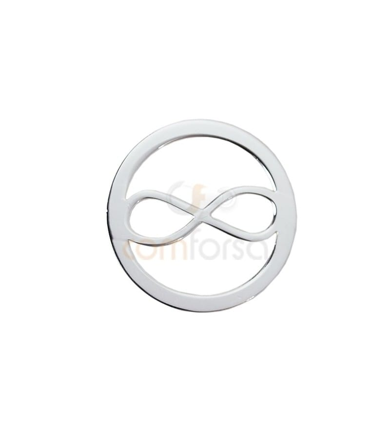 Sterling silver 925 infinity connector 13 mm