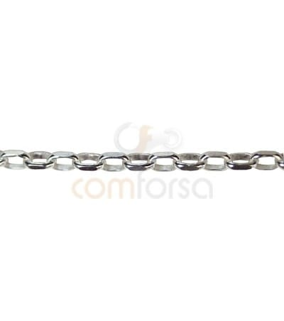 Sterling silver 925 oval curb belcher 4x2 mm