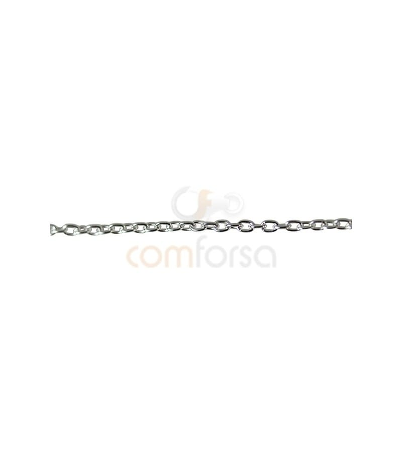 Sterling silver 925ml 1.5 x 1mm forçat chain