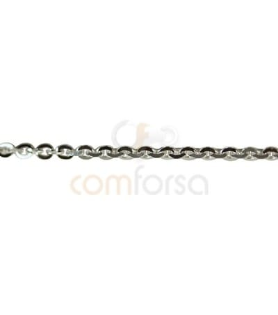 Sterling silver 925ml 2 x 1.5 mm fortçat chain