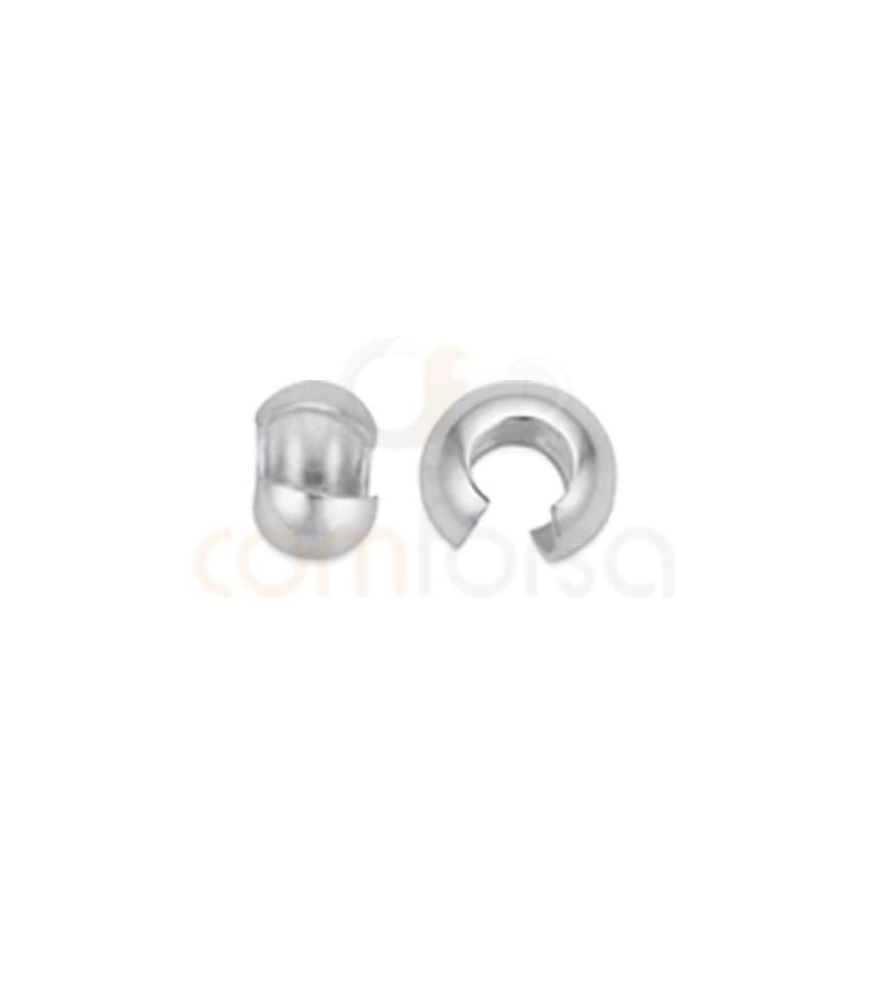 Sterling silver 925 crimp tube covers 4 mm