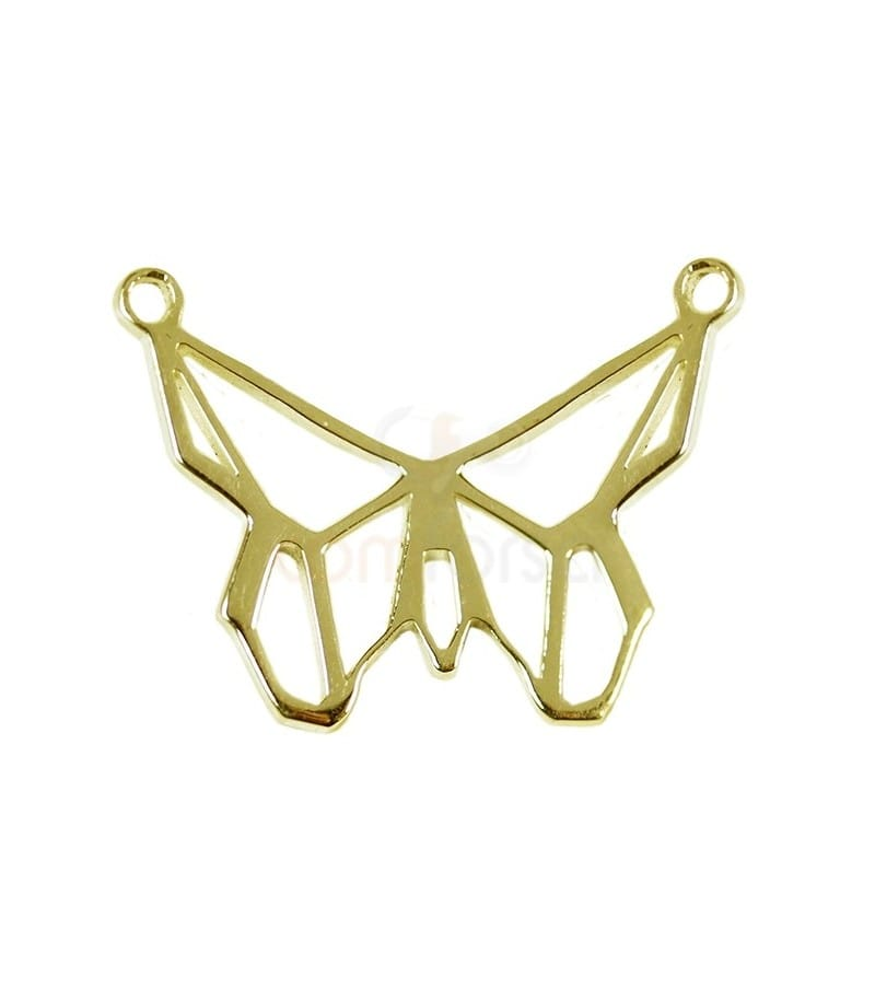 Gold plated sterling silverButterfly pendant 21 x 14mm