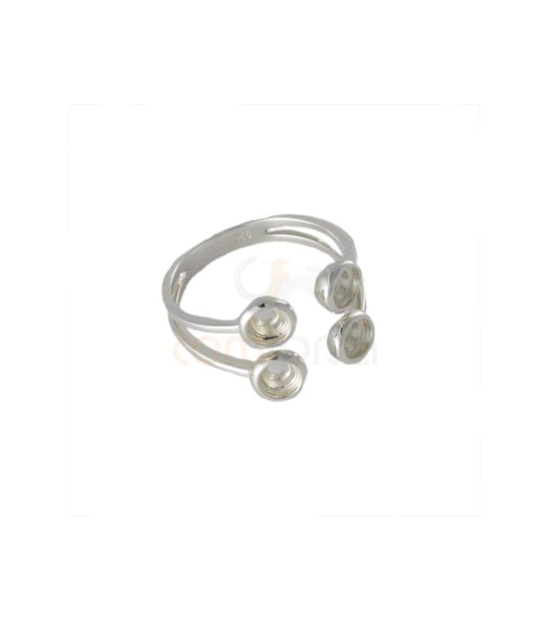 Sterling silver 925 Ring for stones