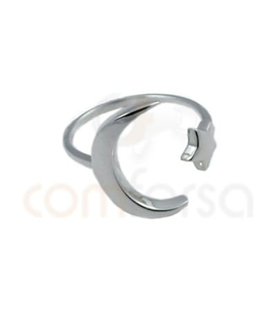 Moon - Star ring silver 925