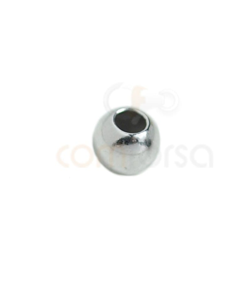 Plane ball 5 mm (2.2) Rhodium plated silver
