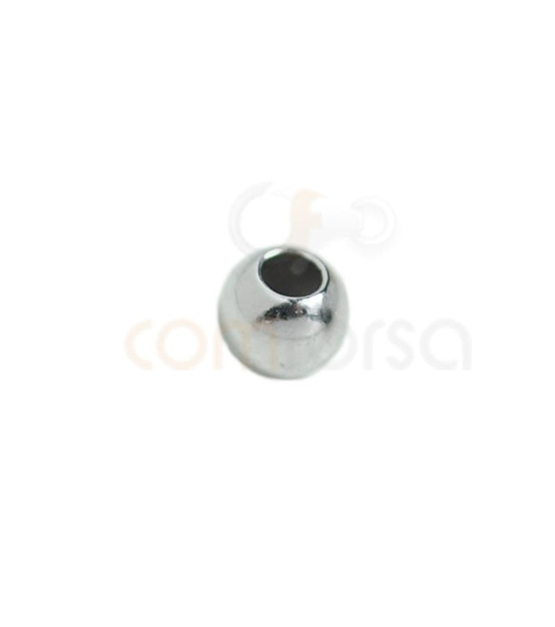 Ball 4 mm (1.8) Rhodium plated silver