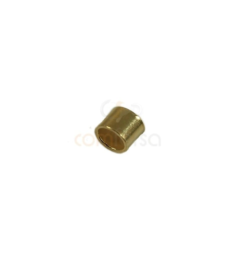 Crimp tubes 2.5x2 mm (2.1 int) sterling silver gold plated