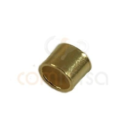Gold plated sterling silver Crimp tubes 1.5x2 mm (1.1 int)