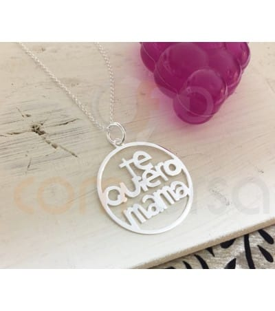 Sterling silver 925 TE QUIERO MAMA pendant