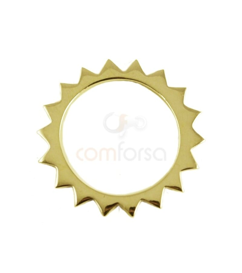 Sterling silver 925 gold-plated sun pendant 18 mm