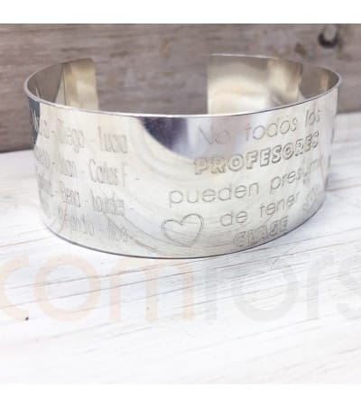 Sterling silver personalized bracelet for teachers