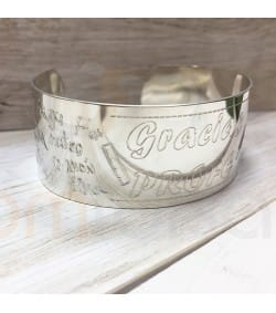 Sterling silver personalized bracelet with signs for teachers