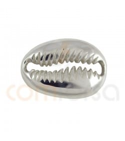 Sterling silver 925 shell link 17 x 12 mm