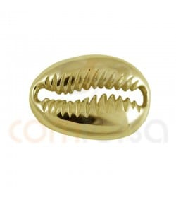 Gold plated Sterling silver 925 shell link 17 x 12 mm