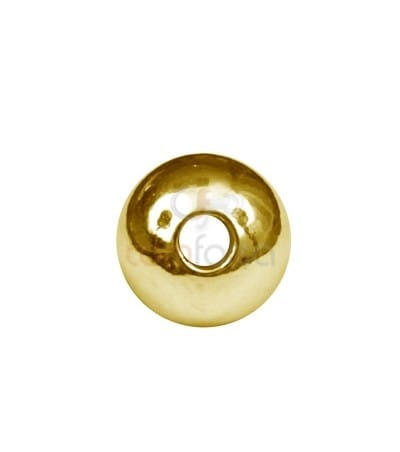 Gold plated sterling silver 5 mm (1.5) round bead