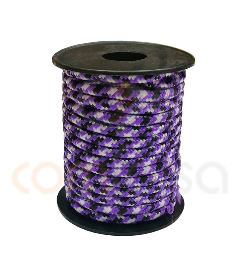 Paracord 5 mm trhee-color blue-yellow purple