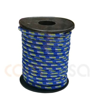 Paracord 5 mm trhee-color blue-yellow