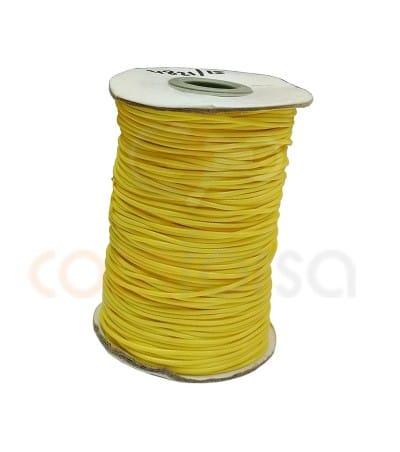 Waxed cord yellow 1.2 mm