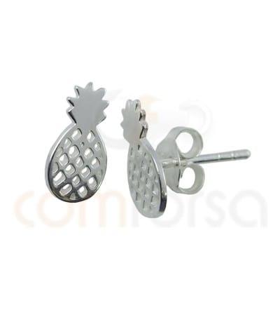 Sterling silver 925 pineapple earrings 5.5 x 11