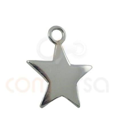 Colgante estrella 10.5 mm plata 925
