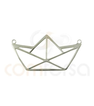 Sterling silver 925 paper boat pendant 10 x 20 mm