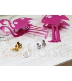 Gold plated sterling silver 925 pineapple earrings  5.5 x 11