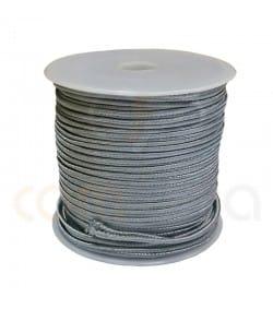 Cordón trenzado plano 4mm Plateado