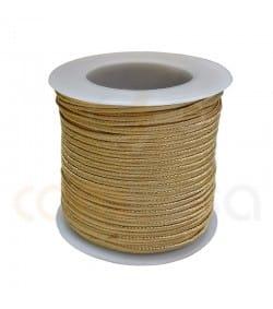 Flat braided cord  4mm Gold
