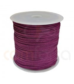 Flat braided cord  4mm Violet