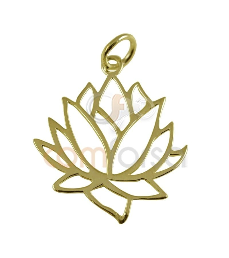 Gold Plated Sterling silver 925 ml Lotus 19x22 mm