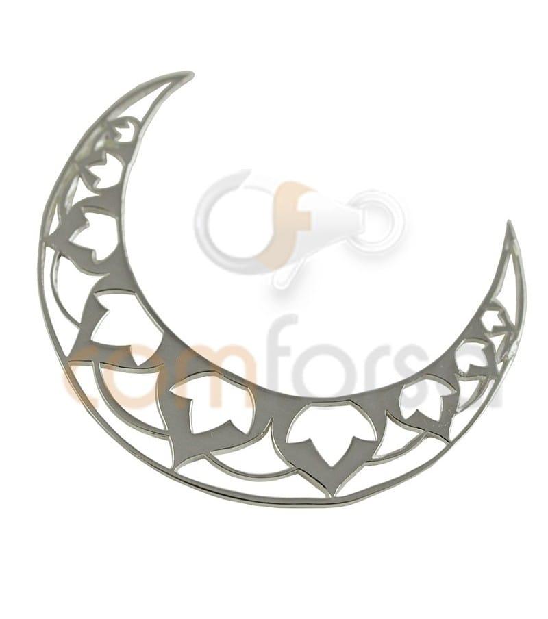 Sterling silver 925 ml Moon Mandala 34mm