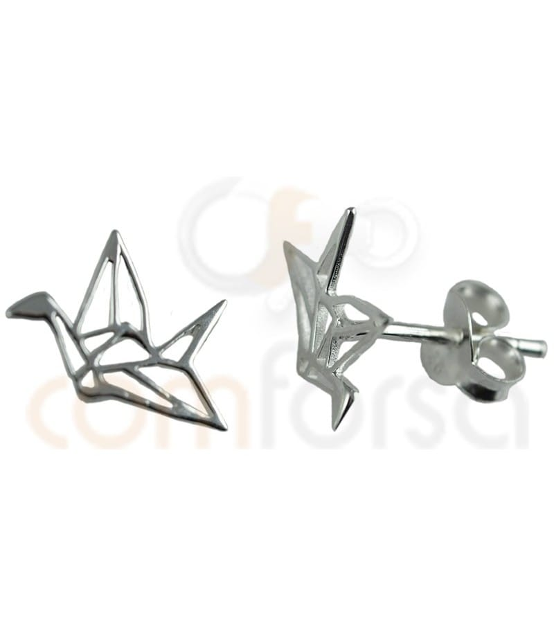 Sterling silver 925ml crane earring