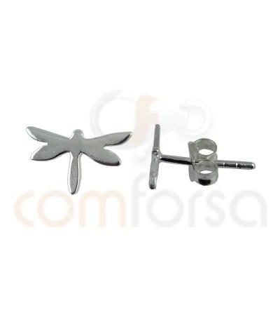 Pendiente libélula 9.3 x 5.4mm plata 925