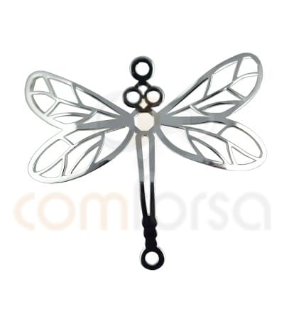 Sterling silver dragonfly connector 20 x 22 mm